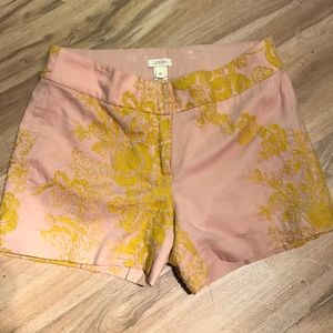 J. Crew embroidered shorts.